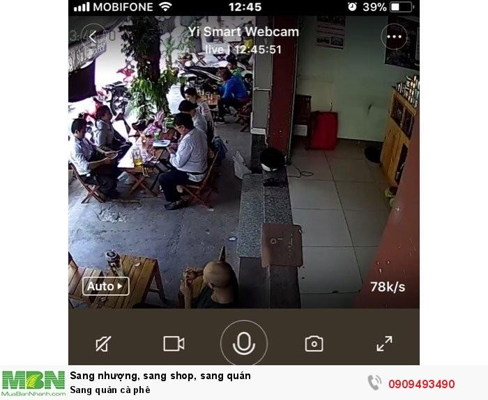 Sang quán cà phê