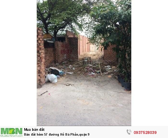 Bán đất hẻm 57 đường Hồ Bá Phấn,quận 9
