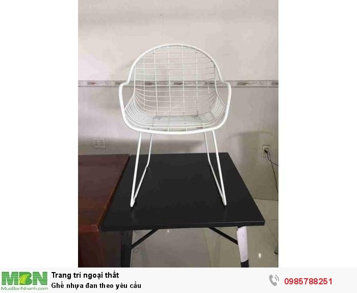 Ghế nhựa đan theo yêu cầu0