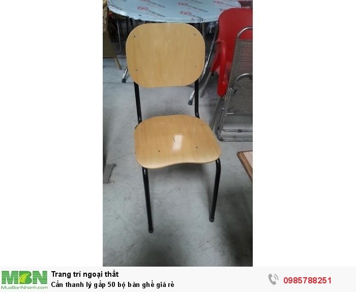Cần thanh lý gấp 50 bộ bàn ghế giá rẻ2