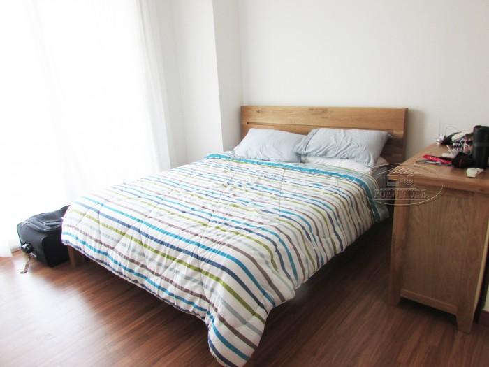 Giường gỗ sồi kiểu 3 nan ngang1