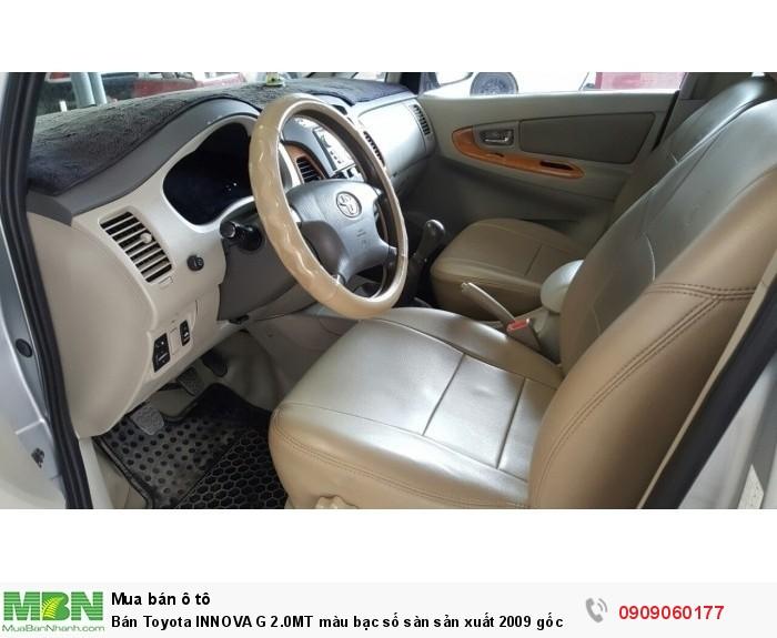 Bán Toyota INNOVA G 2.0MT màu bạc số sàn sản xuất 2009 gốc Sài Gòn