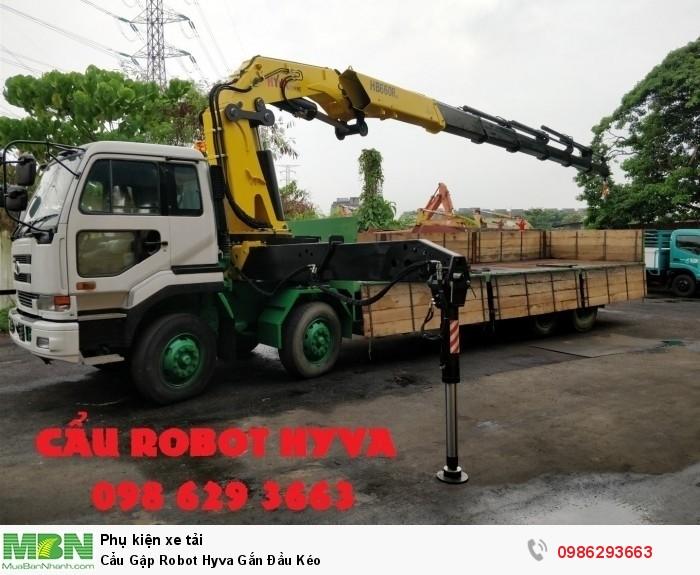 Cẩu Gập Robot Hyva Gắn Đầu Kéo