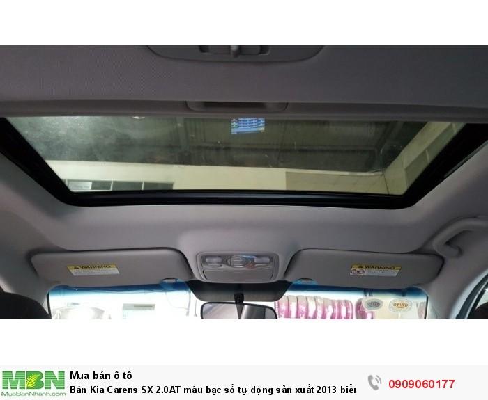Bán Kia Carens SX 2.0AT màu bạc số tự động sản xuất 2013 biển Sài Gòn