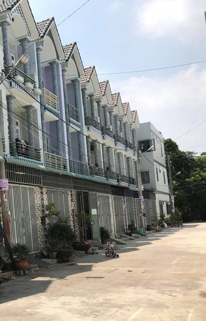 Bán nhà phố Thạnh Lộc 37, 1 trệt 2 lầu