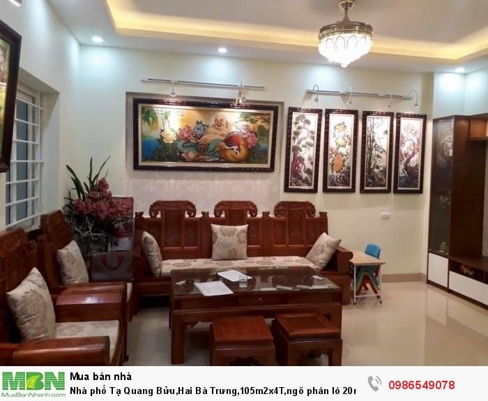 Nhà phố Tạ Quang Bửu,Hai Bà Trưng,105m2x4T,ngõ phân lô 20m,lô góc kinh doanh đắc địa, 20 tỷ.
