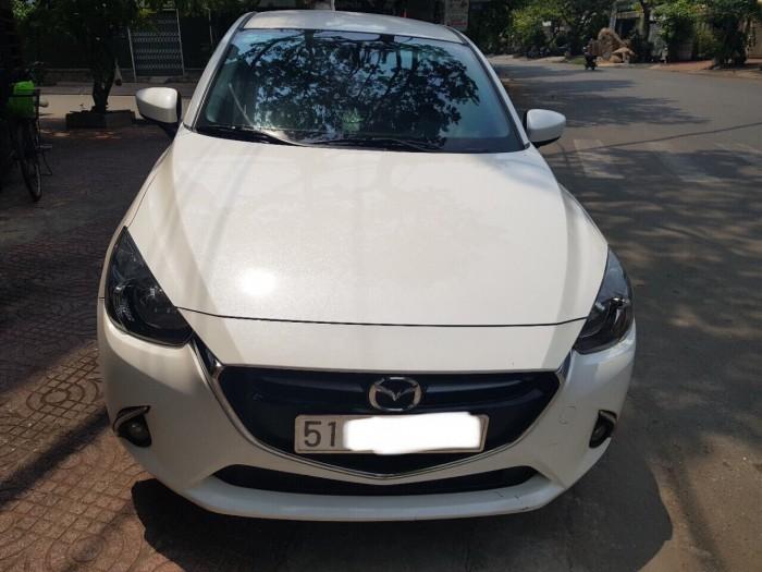 Bán Mazda 2 1.5AT Sedan 2016, màu trắng, biển TP, giá thương lượng, hỗ trợ góp 1
