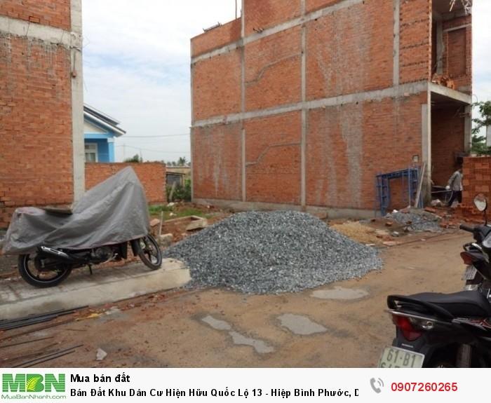 Bán Đất Khu Dân Cư Hiện Hữu Quốc Lộ 13 - Hiệp Bình Phước, Dt 63m2(4x16)