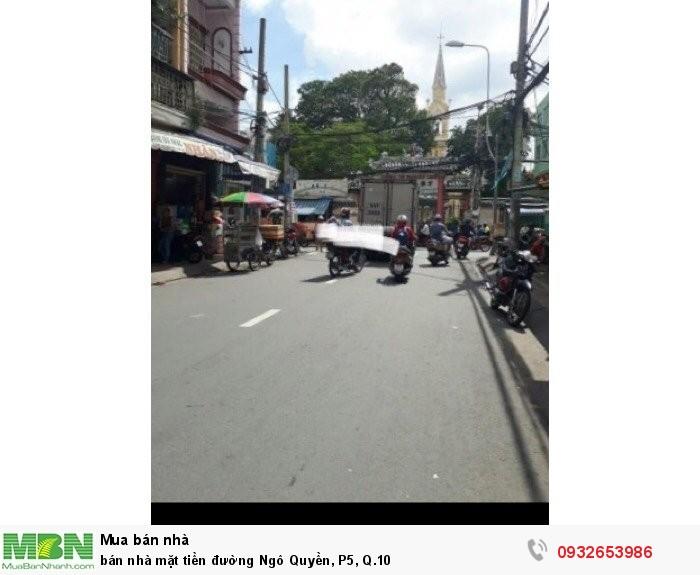 bán nhà mặt tiền đường Ngô Quyền, P5, Q.10