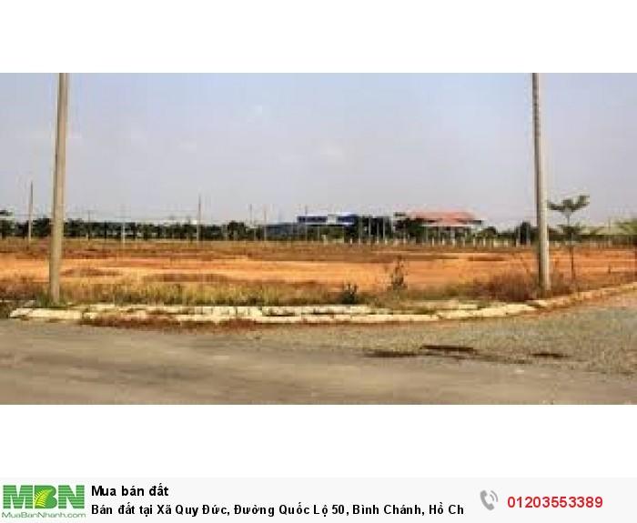Bán đất tại Xã Quy Đức, Đường Quốc Lộ 50, Bình Chánh, Hồ Chí Minh, giá 3.05 tỷ