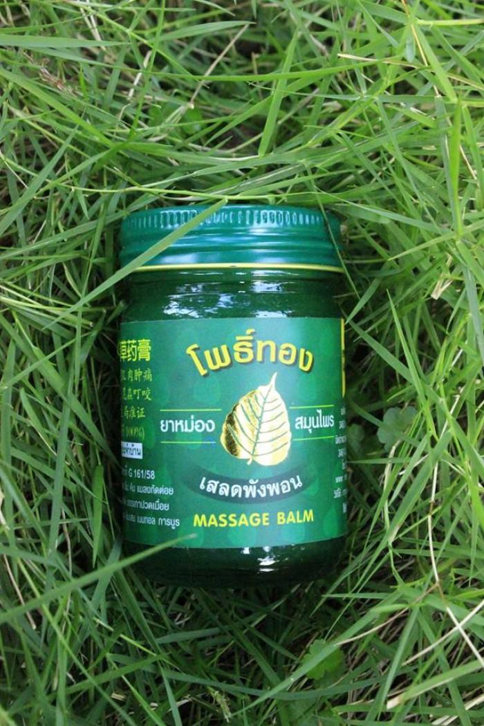 Bán dầu cao xoa cù là Thái Lan Lá bồ đề vàng (loại 13gr và 50gr)1