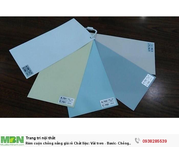 Rèm cuộn chống nắng giá rẻ Chất liệu: Vải trơn - Basic- Chống nắng 100% Bao thi công lắp đặt chỉ: 300,000 đồng