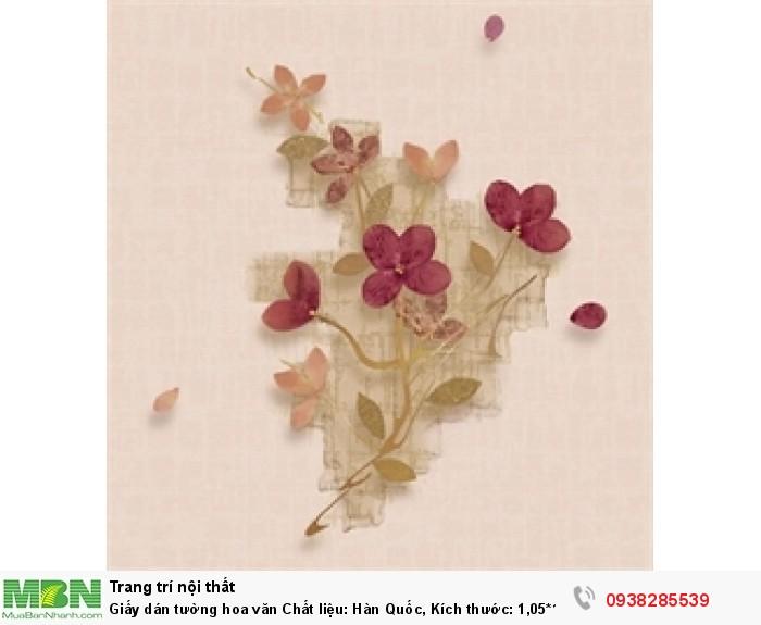 Giấy dán tường hoa văn Chất liệu: Hàn Quốc, Kích thước: 1,05*16m