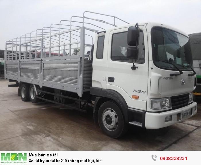 Xe tải hyundai hd210 thùng mui bạt, kín