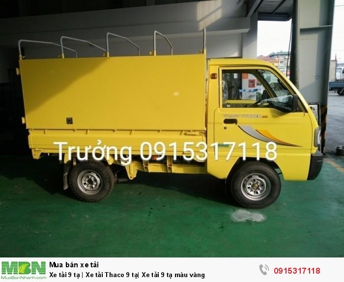 Xe tải 9 tạ | Xe tải Thaco 9 tạ| Xe tải 9 tạ màu vàng 1