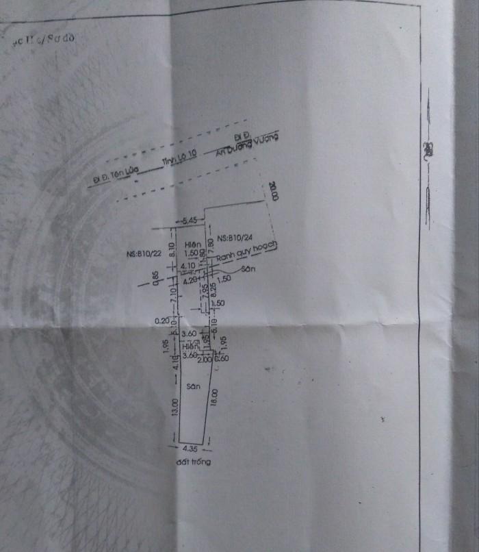 Nhà mặt tiền 5xx tỉnh lộ 10,bình trị đông. 170m2