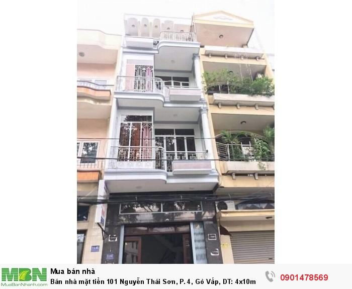 Bán nhà mặt tiền 101 Nguyễn Thái Sơn, P. 4, Gò Vấp, DT: 4x10m