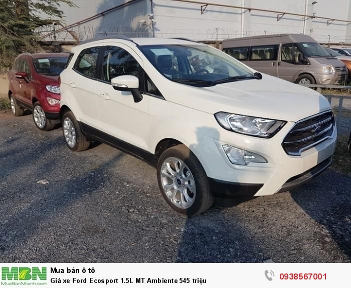 Giá xe Ford Ecosport 1.5L MT Ambiente 545 triệu