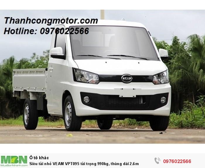 Siêu tải nhỏ VEAM VPT095 tải trọng 990kg, thùng dài 2.6m