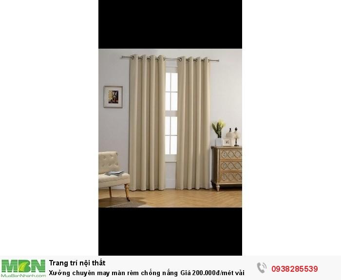 Xưởng chuyên may màn rèm chống nắng Giá 200.000đ/mét vải