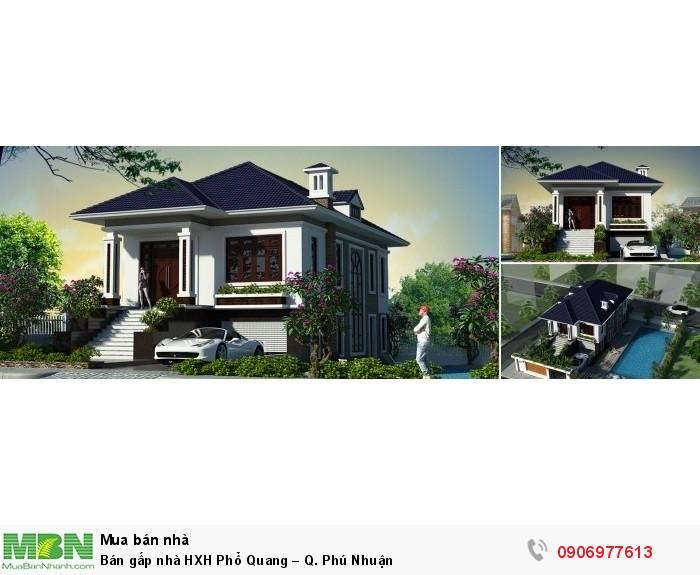 Bán gấp nhà HXH Phổ Quang – Q. Phú Nhuận