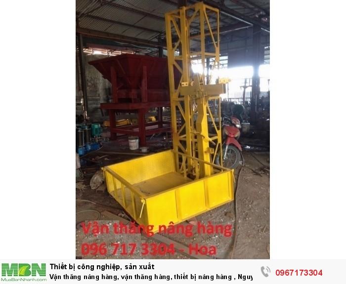 Vận thăng nâng hàng, vận thăng hàng, thiết bị nâng hàng , Nguyên lý hoạt động vận thăng nâng hàng