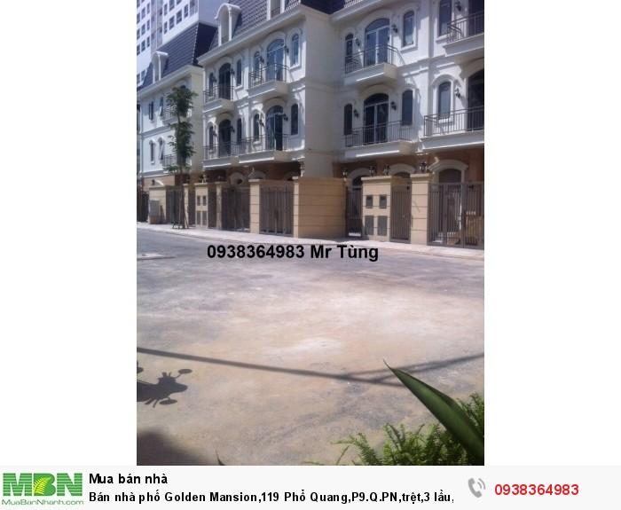 Bán nhà phố Golden Mansion,119 Phổ Quang,P9.Q.PN,trệt,3 lầu, giá  bán 15 tỷ