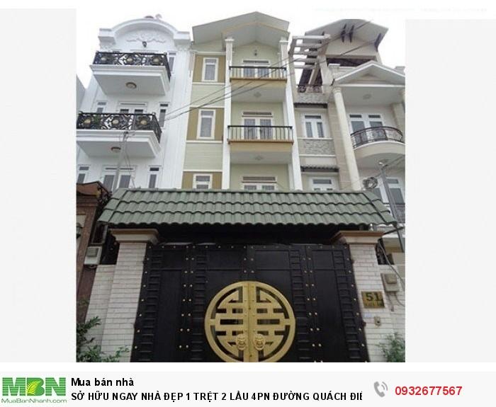 Sở Hữu Ngay Nhà Đẹp 1 Trệt 2 Lầu 4pn Đường Quách Điêu Nguyễn Thị Tú