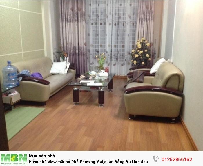Hiếm,nhà View mặt hồ Phố Phương Mai,quận Đống Đa,kinh doanh thu 45 triệu/tháng