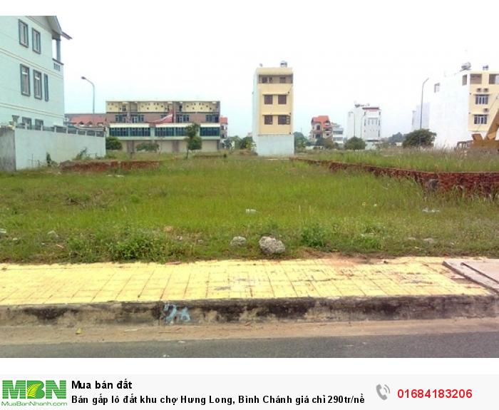 Bán gấp lô đất khu chợ Hưng Long, Bình Chánh