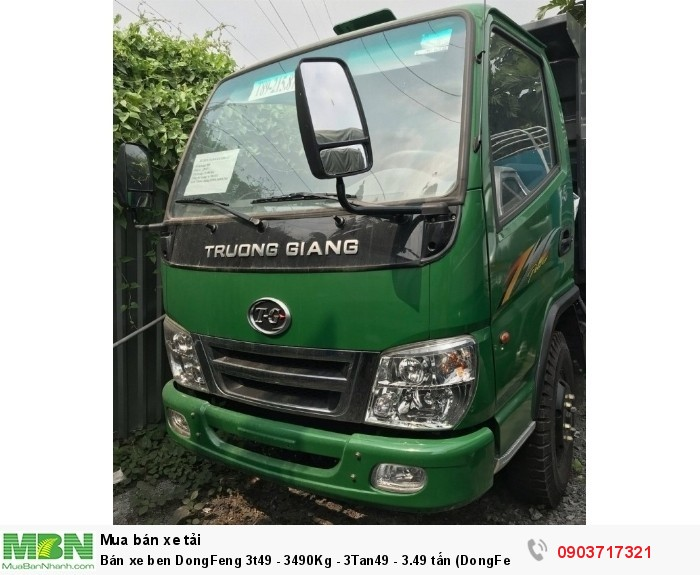 Bán xe ben DongFeng 3t49 - 3490Kg - 3Tan49 - 3.49 tấn (DongFeng Trường Giang 3T49)