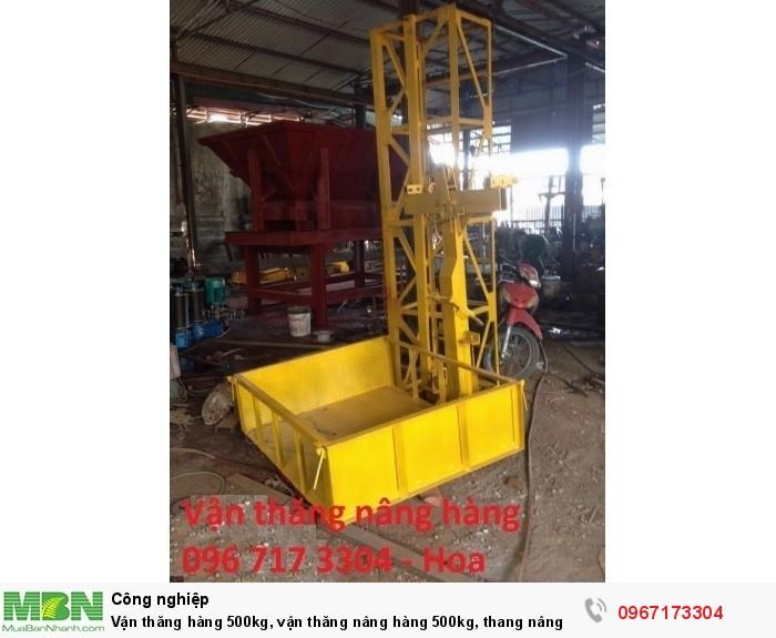 Vận thăng hàng 500kg, vận thăng nâng hàng 500kg, thang nâng hàng 500kg