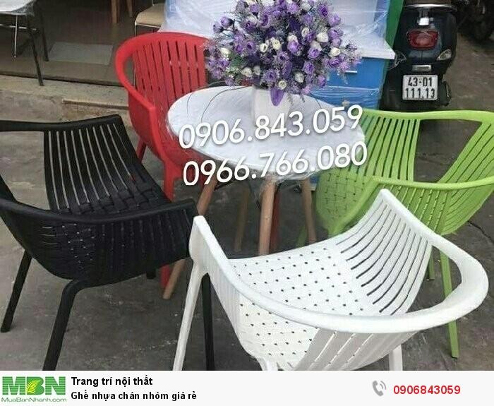 Ghế nhựa chân nhôm giá rẻ0