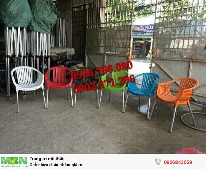 Ghế nhựa chân nhôm giá rẻ1