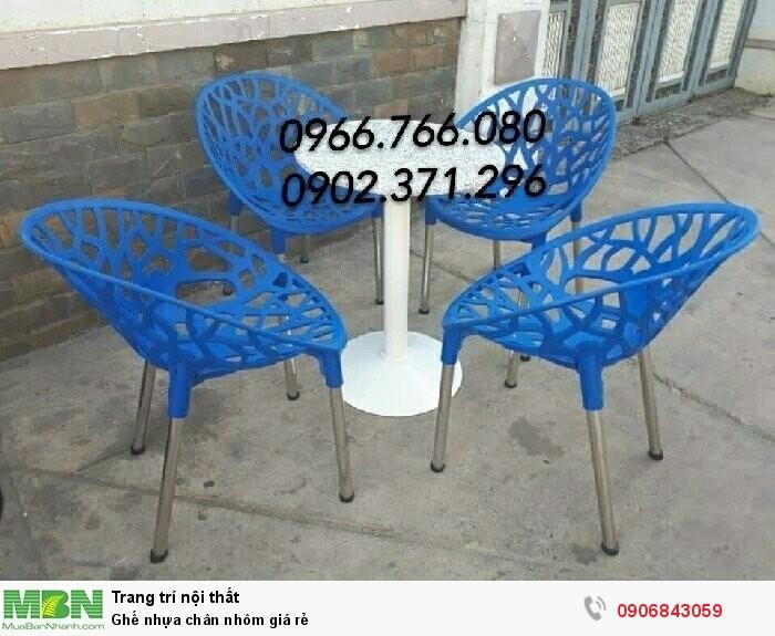 Ghế nhựa chân nhôm giá rẻ2