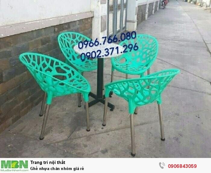 Ghế nhựa chân nhôm giá rẻ3