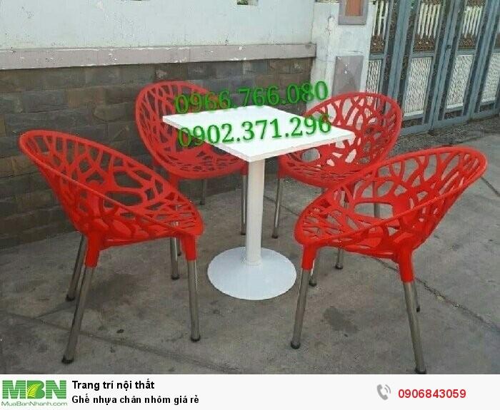 Ghế nhựa chân nhôm giá rẻ4