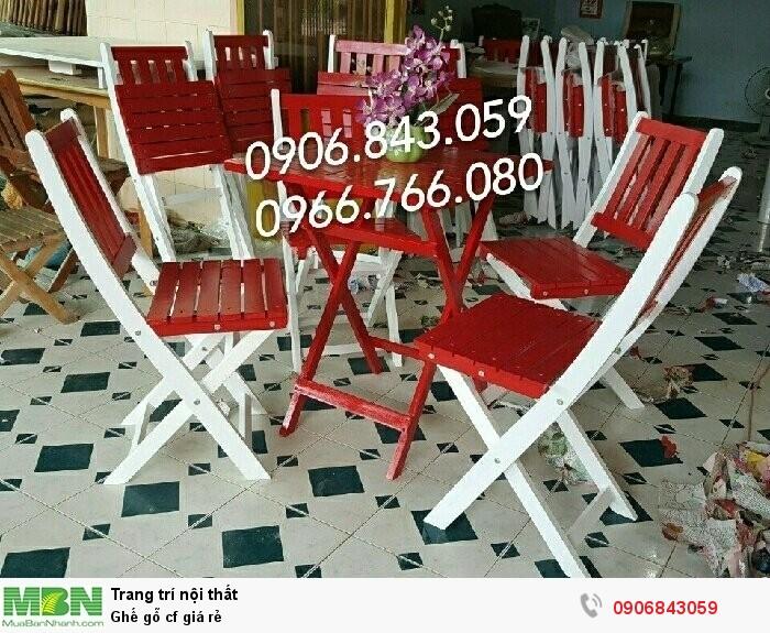 Ghế gỗ cf giá rẻ0