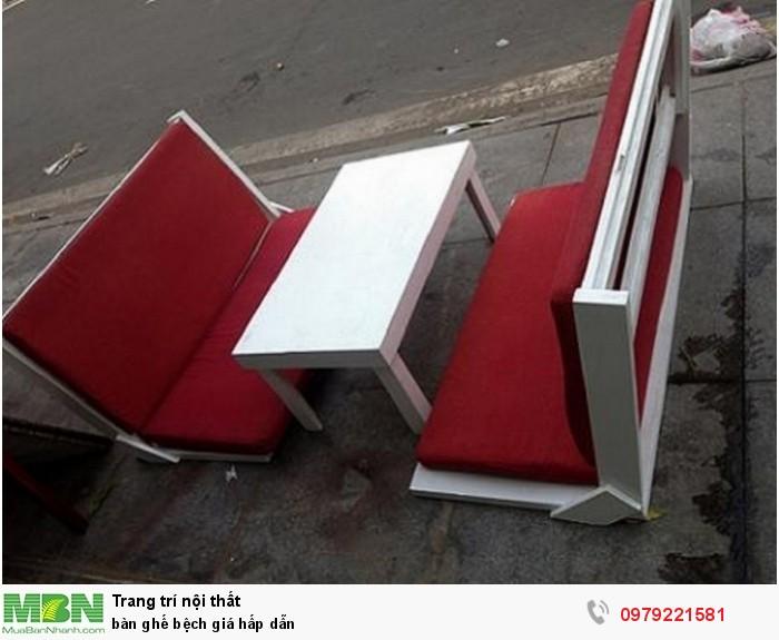 Bàn ghế bệch giá hấp dẫn