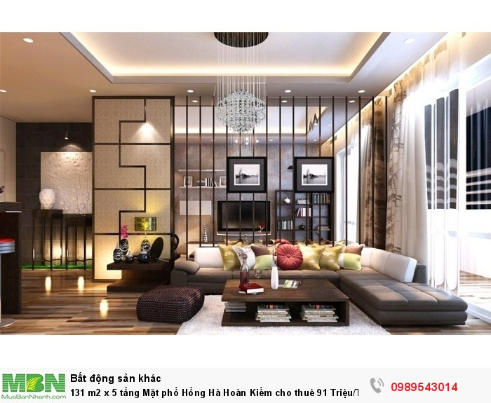131 m2 x 5 tầng Mặt phố Hồng Hà Hoàn Kiếm cho thuê 91 Triệu/Tháng