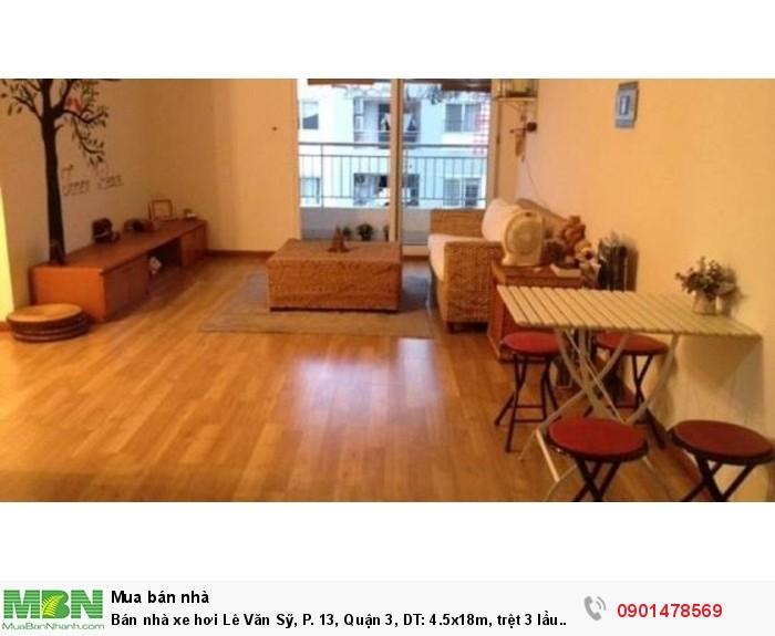 Bán nhà xe hơi  Lê Văn Sỹ, P. 13, Quận 3, DT: 4.5x18m, trệt 3 lầu nhà rất đẹp.