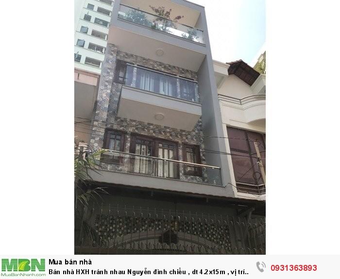 Bán nhà HXH tránh nhau Nguyễn Đình Chiểu , dt 4.2x15m , vị trí siêu đẹp.