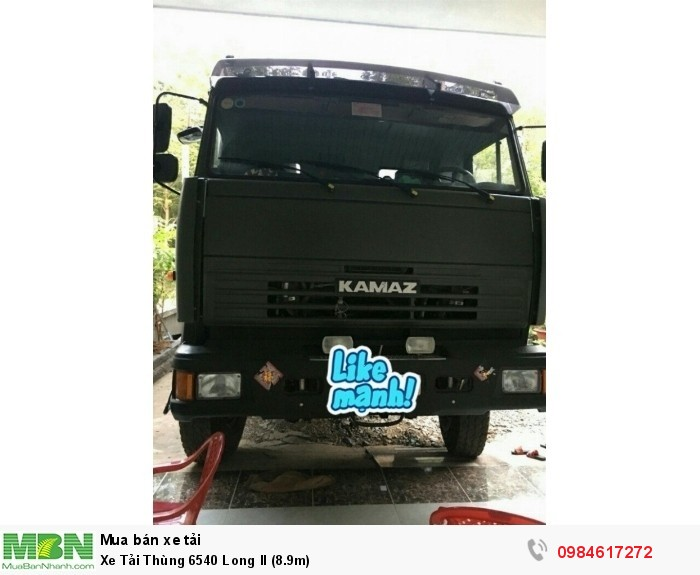 Xe Tải Thùng KAMAZ 6540 Long II (9m1)