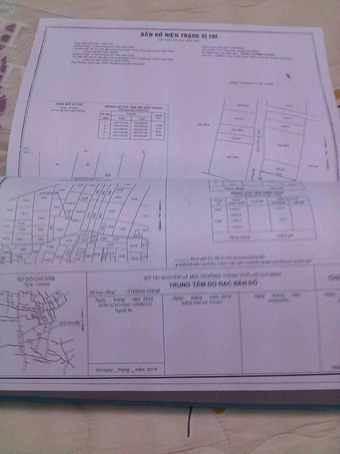 Cần bán đất, đường XTT 31, Hóc môn, DT 7x16=112m2, giá 870tr