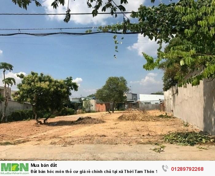 Đất bán Hóc Môn thổ cư giá rẻ chính chủ tại xã Thới Tam Thôn 16 DT 855m2