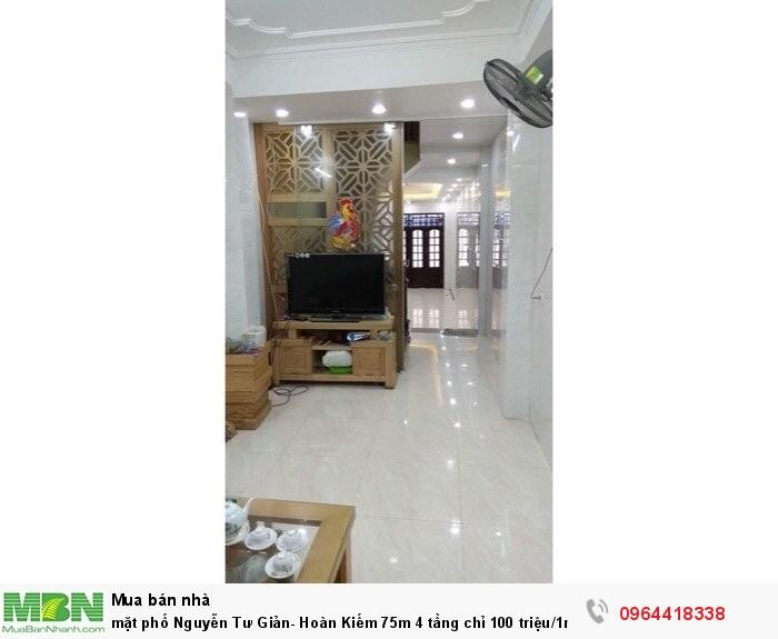 Mặt phố Nguyễn Tư Giản- Hoàn Kiếm 75m 4 tầng