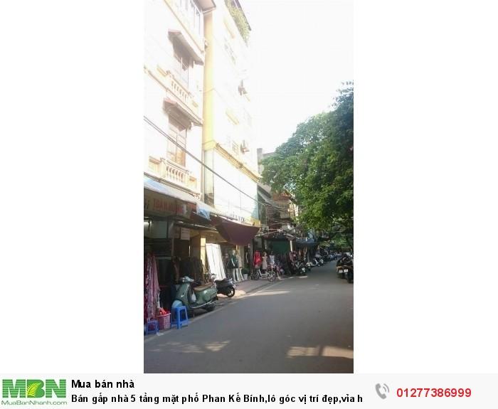 Bán gấp nhà 5 tầng mặt phố Phan Kế Bính, lô góc vị trí đẹp, vỉa hè rộng