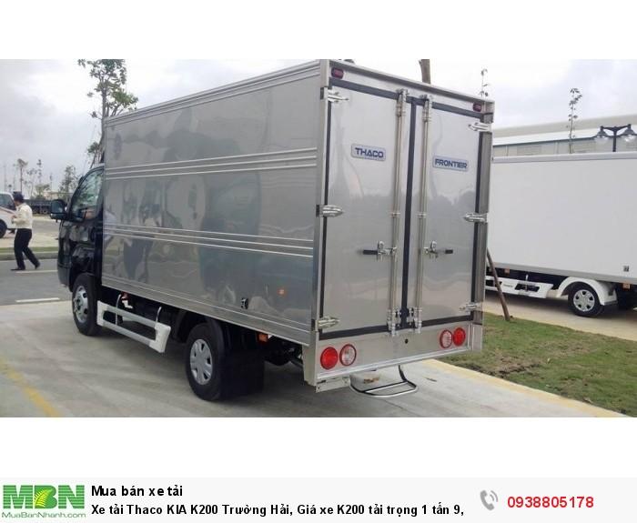 Xe tải Thaco KIA K200 Trường Hải, Giá xe K200 tải trọng 1 tấn 9, xe tải 1t9 thaco, Hỗ trợ trả góp 75% giá trị xe