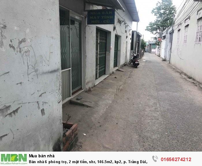 Bán nhà 6 phòng trọ, 2 mặt tiền, shr, dt 8.5x24m (146.5m2) , kp2, p. Trảng Dài, Biên Hòa