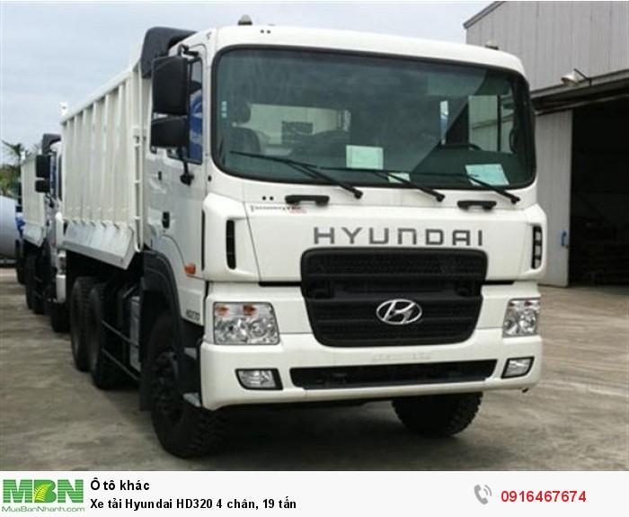 Xe tải Hyundai HD320 4 chân, 19 tấn